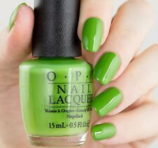 OPI 16 New Orleans *I'M SO SWAMPED* Bright Green Creme Nail Polish Lacquer N60