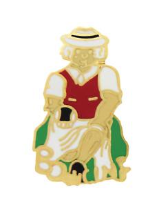 Lawn Bowls Senior Woman Pin Badge