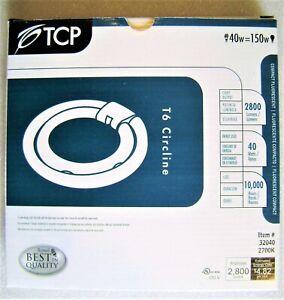 TCP 32040 40W 2700K Double T6 Fluorescent Circline Light Bulb w/Bentwing Bracket