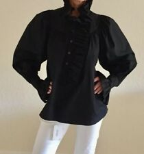 "Women's ""KENZO"" Defile Black Ruffle Blouse/Tunic Size 38"