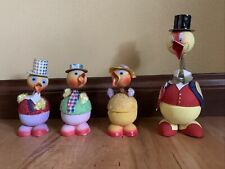 4 West Germany Easter Duck Spring Cardboard Bobblehead Candy Holders Vintage