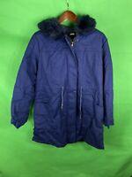 Mixfeer Women's Blue Hooded Jacket Warm Size XL Nwt