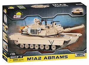 COBI Abrams M1A2 US Army Desert Tank 1:35 - Model Building Block Set # 2619