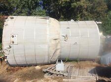 13,000 Gallon Stainless Steel Vertical 304 Mixing Tank W/ Lightnen Mixer & Steam