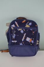 Pottery Barn Kids Mackenzie Preschool Cooler Backpack Blue Orange Robots PreK