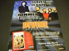 TONY IOMMI Slaves On Dope original 2001 PROMO DISPLAY AD mint condition