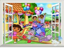 Dora Family Adventures 3D Window Wall decor Sticker Kids Nursery Girl decals