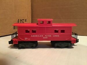 Vtg Gilbert American Flyer Lines S Scale Red  Caboose #24603 💥(C-5.5)💥