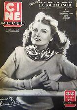 CINEMA CINE REVUE N° 47 de 1950 DEPART POUR LA LUNE ANNA NEAGLE DELBO VALLI FORD