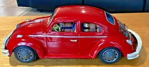 Vintage Bandai Tin Battery  Operated Volkswagen Working Made in Japan