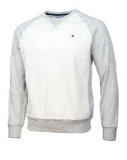 Tommy Hilfiger Men's Crew Neck Sweatshirt, Snow White, Size 2XL
