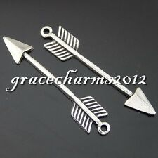 38x Vintage Silver Alloy Arrows Darts Pendants Findings Charms Crafts 50592