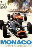 25. Grand Prix  Automobile Monaco Blechschild Schild Tin Sign 20 x 30 cm FA0381