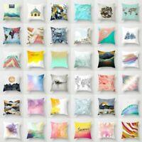 Art Mountain Polyester Pillow Case Sofa Waist Throw Cushion Cover Home Decor 18