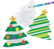 Confezione di 12-Albero di Natale Lamina notepads-Christmas Stocking Filler