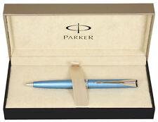 Parker Latitude Ballpoint Pen Blue Chrome Trim NEW