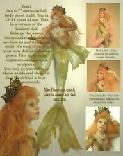Pearl - girl mermaid press mold by Patricia Rose DISCOUNTED NOW