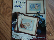 "Cat Cross stitch pattern  by Leisure Arts ""Daisy & Muffin"" Leaflet 2024"