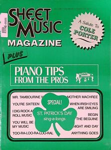 Sheet Music Magazine February 1977 Salute to Cole Porter St Patrick's Day  04