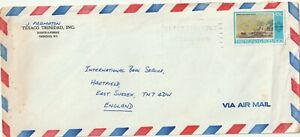 1977 Trinidad&Tobago oversize cover sent from Port of Spain to Hartfield UK