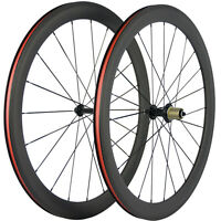 50mm Carbon Bicycle Wheels Road Bike Clincher Cyclocross Bike Wheelset 700C 23mm