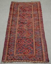 """Circa 1850's or earlier. Antique BESHIR Turkmen """"CLOUD BAND"""" or """"DRAGON"""" CARPET"""