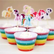 My Little Pony CUPCAKE TOPPERS & WRAPPERS 24 PCS PARTY SUPPLIES AU