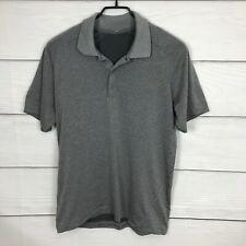 Lululemon Metal Vent Polo Shirt size Medium M Gray Short Sleeve Golf Casual