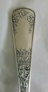 Antique GEO. JORDAN Sterling Silver Dessert Soup Spoon
