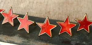 6 pcs RUSSIAN SOVIET ARMY USSR RED STAR CAP- BERET- USHANKA ENAMEL PIN BADGE #2