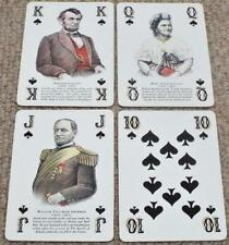 Old Huckleberry Bourbon Whiskey American Civil War Playing Cards