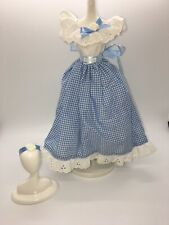 Barbie Doll Clothing: 1997 Little Debbie blue Gingham eyelet prairie Dress