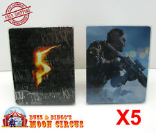 5x XBOX 360 CIB GAME BLU-RAY STEELBOOK G2 - CLEAR PROTECTIVE BOX PROTECTOR CASE