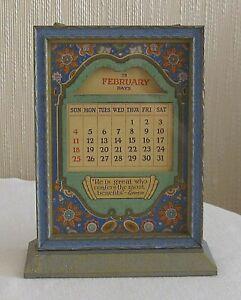 Vintage Art Deco Perpetual Calendar Standing Desk Frame