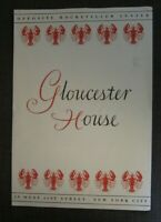 """1950s Gloucester House Large Menu 15 1/2"""" x 10 3/4"""", 59 West 51 st, NYC"""