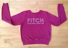 "Abercrombie & Fitch Women's Red Crew-neck Sweatshirt/Sweater Size XS ""Fitch"""