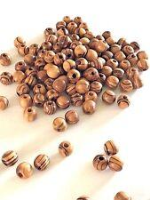 1440 ~ Olive Wood 8mm Round Beads Polished Rosary Jewelry Bethlehem Jerusalem