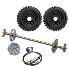 "New listing 29"" Go Kart Rear Axle Kit Brake Disc Caliper Sprocket 6"" Wheels Quad Buggy ATV"