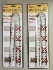 2 Protractor Ruler Easy Angle With Magnified Angle Viewer 60 CM Mark Ruler