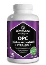 (?13,24/100g) OPC Traubenkernextrakt + Vitamin C 180 Kapseln für 6 Monate