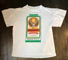 Vintage Single Stitch Jagermeister Double Sided T-shirt Size L