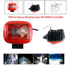 2PCS 3LED 30W Car SUV Square Working Lamp 6000K Truck Marine Light Spotlight Kit