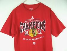 CHICAGO BLACKHAWKS HOCKEY NHL T-SHIRT CHAMPS 2015 SIZE MENS M