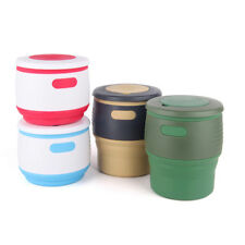 Silicone Folding Retractable Mug Collapsible Coffee Cup Outdoor Hiking Travel