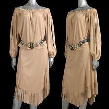 Women's Vintage Western Wear Blouse & Fringe Skirt Outfit  Size M