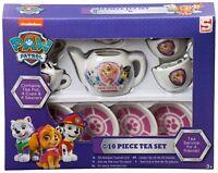 Paw Patrol Mini 10 Piece Tea Set Teapot and Tea Cups Saucers Christmas Toy Play