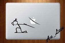 Macbook Air Pro Vinyl Skin Sticker Decal Stick Figure Samurai Sword Ninja M438