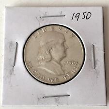 1950 FRANKLIN HALF DOLLAR US SILVER COIN Lot 41P