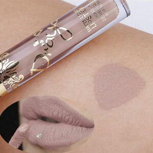 Nude Color Makeup Waterproof Matte Velvet Lip Gloss La Lipstick Q1B0 Liquid FAST