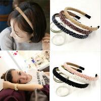 Women Girls Elastic Bling Rhinestone Crystal Headband Hairband Hair Accessories